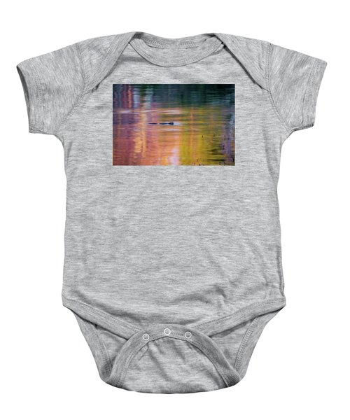 Baby Onesie featuring the photograph Sea Of Color by Bill Wakeley