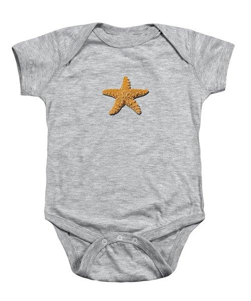 Sea Star Orange .png Baby Onesie