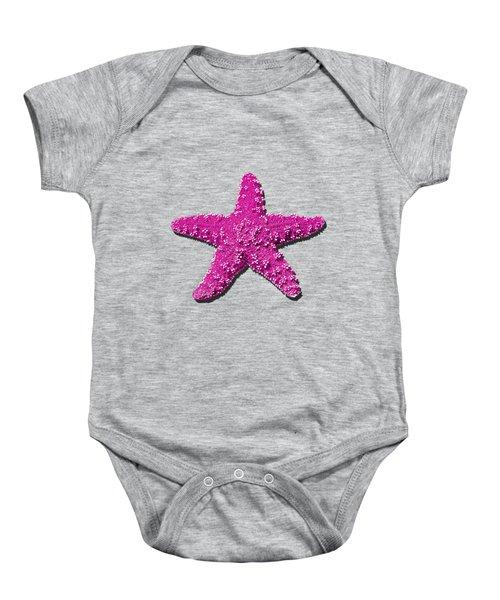 Sea Star Pink .png Baby Onesie