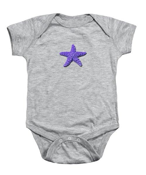 Sea Star Purple .png Baby Onesie