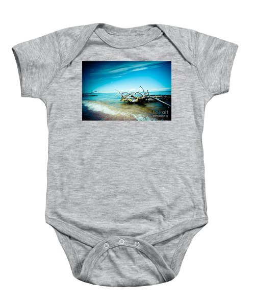 Seacost With Old Tree In Water Kolka Baby Onesie