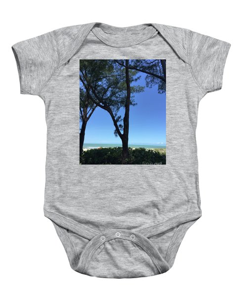 Seagrapes And Pines Baby Onesie by Megan Cohen