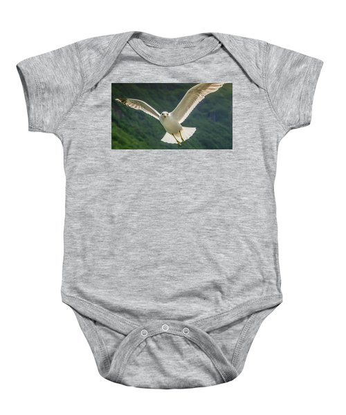 Seagull At The Fjord Baby Onesie