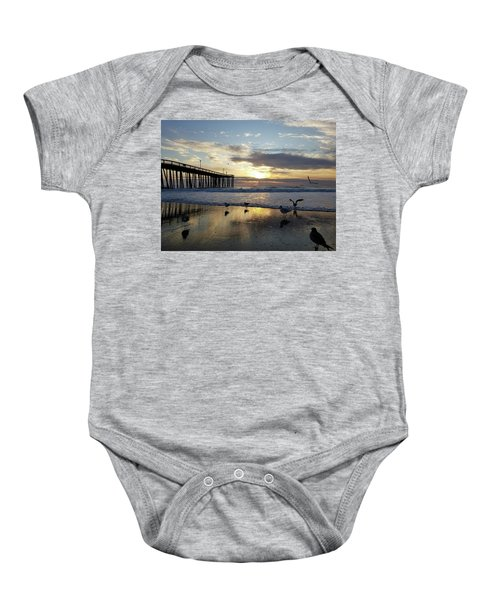 Seagulls And Salty Air Baby Onesie