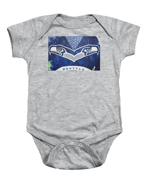 Seahawks Helmet Baby Onesie