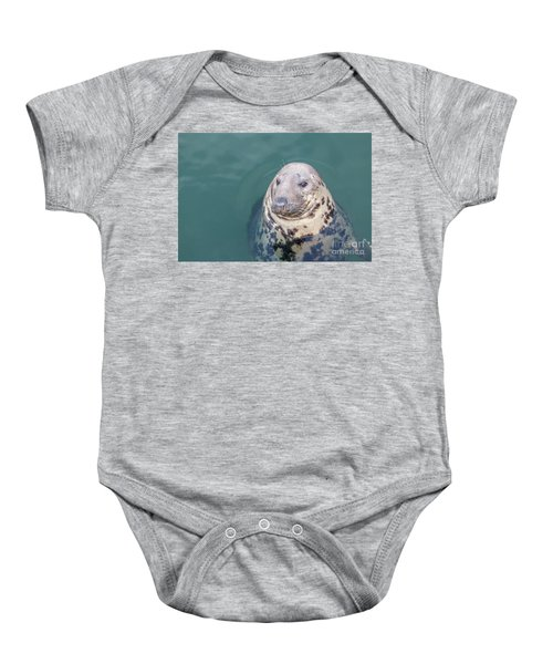 Seal With Long Whiskers With Head Sticking Out Of Water Baby Onesie