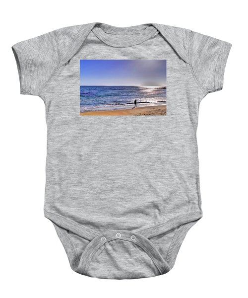 Searching To The Sea Baby Onesie