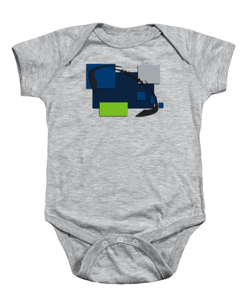 Seattle Seahawks Abstract Shirt Baby Onesie by Joe Hamilton