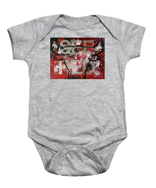 See Red Chicago Bulls Baby Onesie