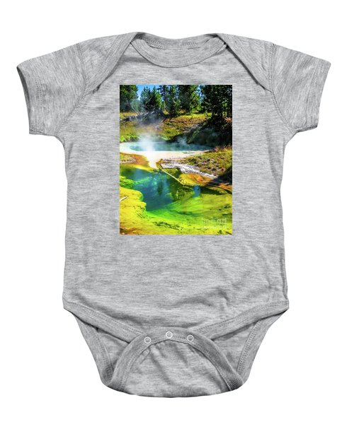 Seismograph Pool In Yellowstone Baby Onesie