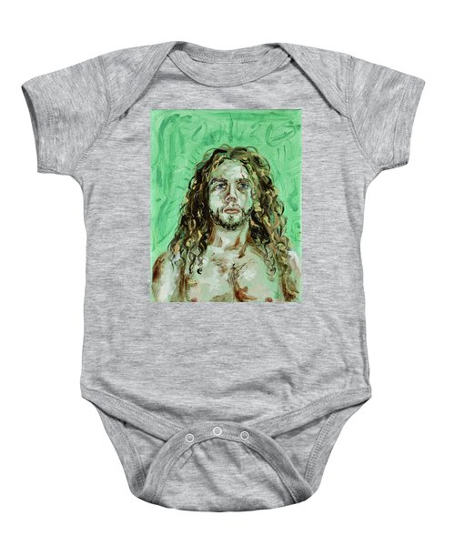 Self Portrait -with Emerald Green And Mummy Brown- Baby Onesie