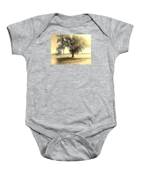 Sepia Colors In A Tree Baby Onesie