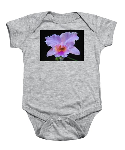 Baby Onesie featuring the digital art Serendipity Orchid by Charmaine Zoe