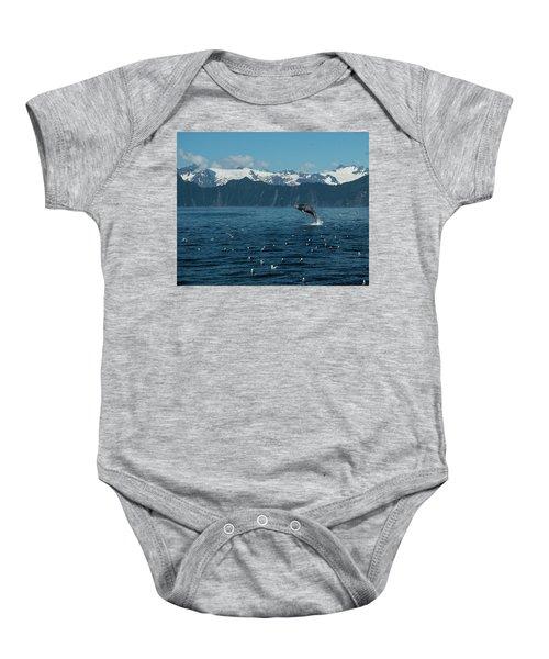 Seward Whale Breach Baby Onesie