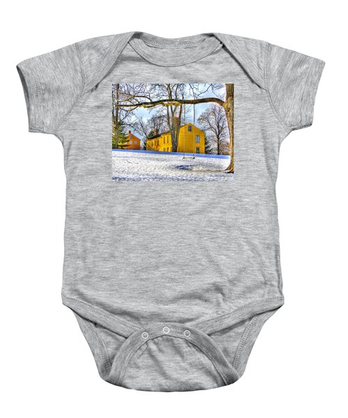 Shaker Swing In Winter 2 Baby Onesie