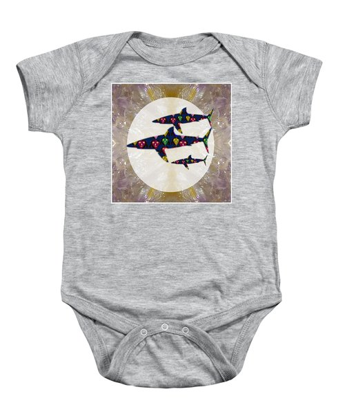 Shark Fish Dangerous Painted Cartoon Face Link For Download Option Below Personal N Commercial Uses Baby Onesie by Navin Joshi