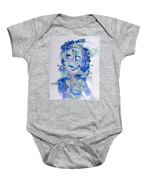 She Dreams In Blue Baby Onesie
