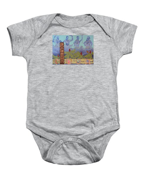 Baby Onesie featuring the painting She Makes Rain by Chholing Taha