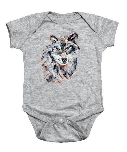 She Wolf - Animal Art By Valentina Miletic Baby Onesie