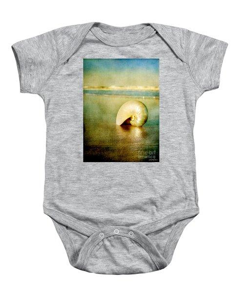 Shell In Sand Baby Onesie