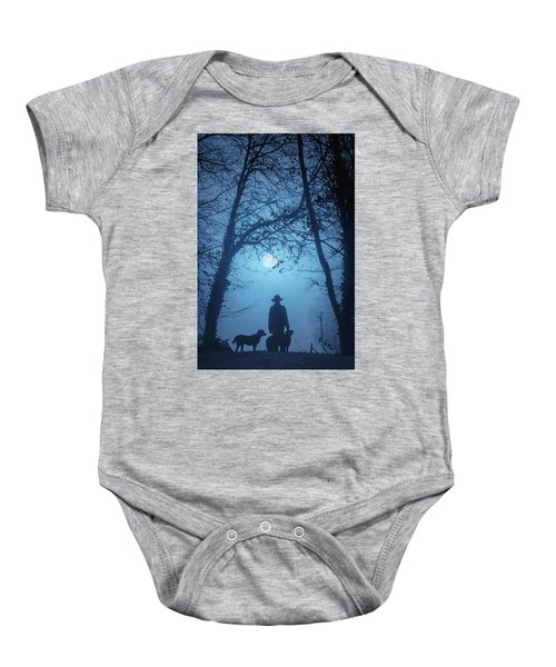 Shepherd And His Dogs Along The River Tamar Baby Onesie