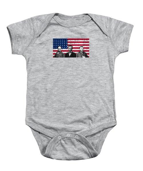 Sherman - Lincoln - Grant Baby Onesie