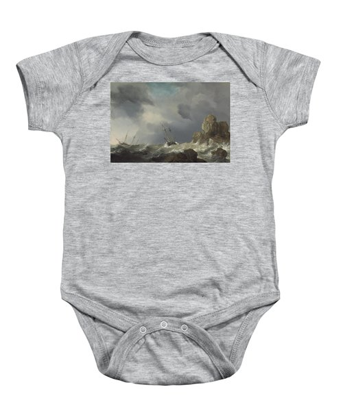 Ships In A Gale Baby Onesie