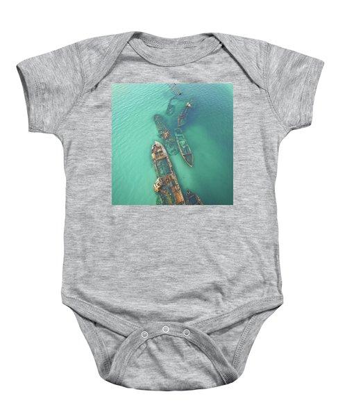 Shipwrecks Baby Onesie