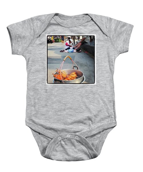 Baby Onesie featuring the photograph Shrimping And Crabbing On The by Mr Photojimsf
