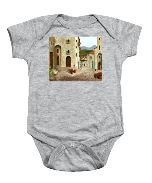 side streets of Tuscany Baby Onesie