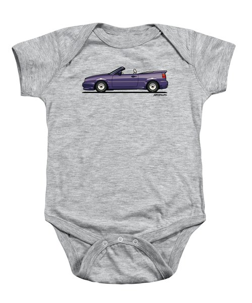 Sideview Of An Vw Corrado Convertible Conversion By German Aftermarket And Tuning Specialist Zender  Baby Onesie