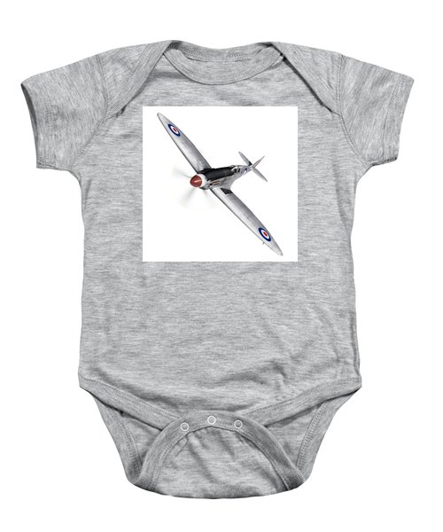 Silver Spitfire Pr Xix Cutout Baby Onesie by Gary Eason