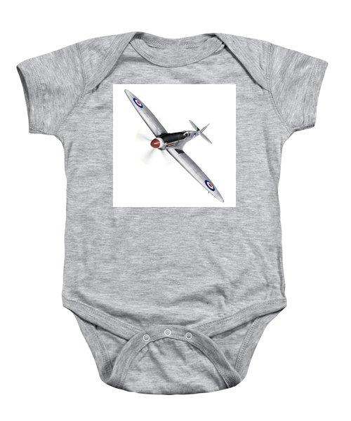 Silver Spitfire Pr Xix Cutout Baby Onesie