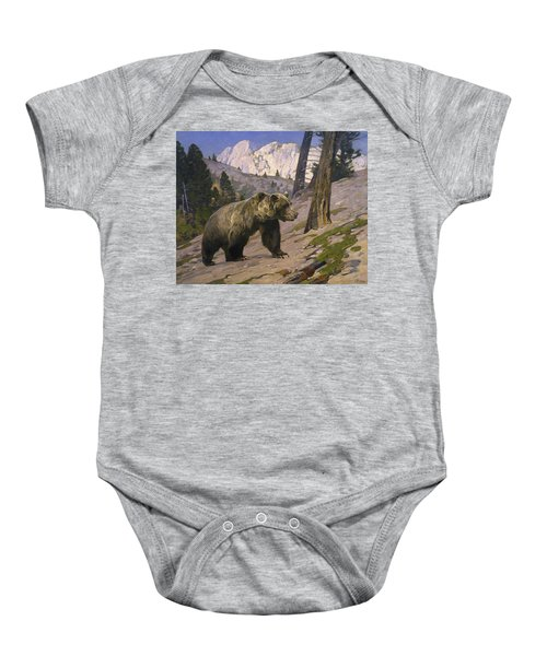 Silver Tip Grizzly Bear - Rocky Mountains, Alberta Baby Onesie