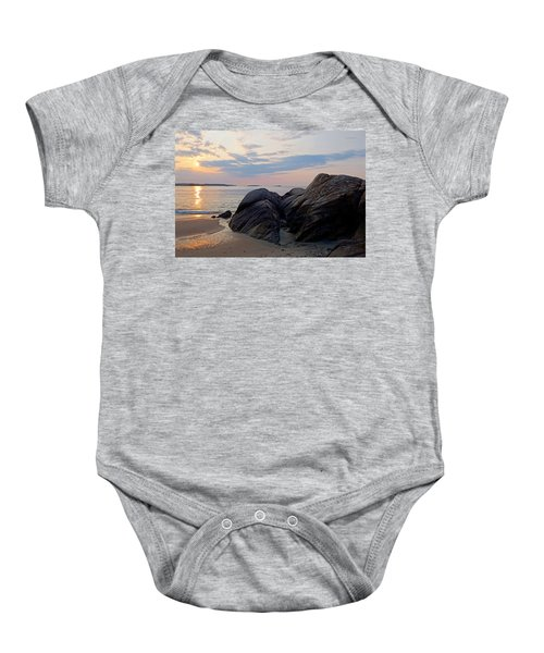 Singing Beach Rocky Sunrise Manchester By The Sea Ma Baby Onesie