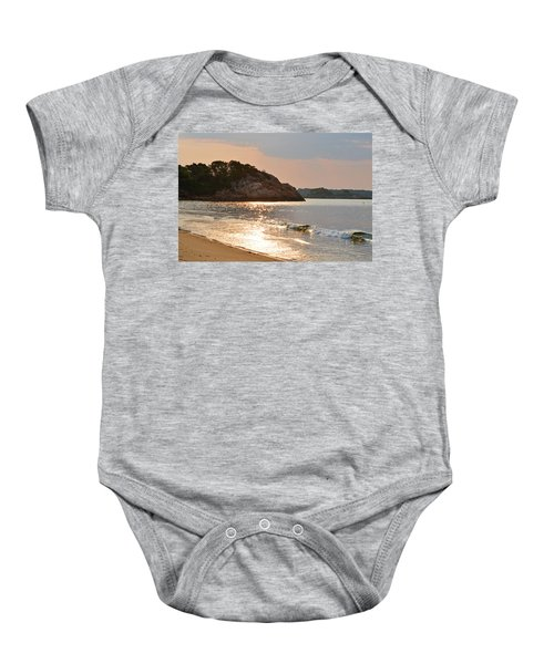 Singing Beach Silver Waves Manchester By The Sea Ma Baby Onesie