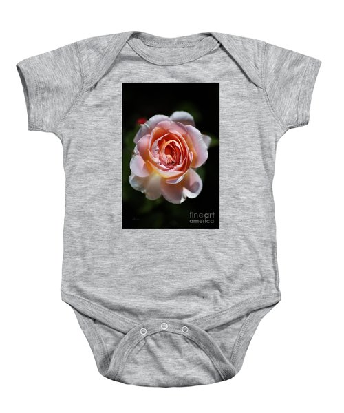 Single Romantic Rose  Baby Onesie