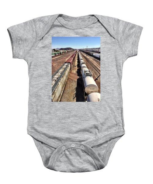 Six Trains Baby Onesie