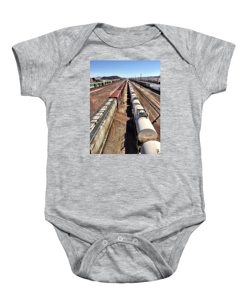 Six Trains Baby Onesie