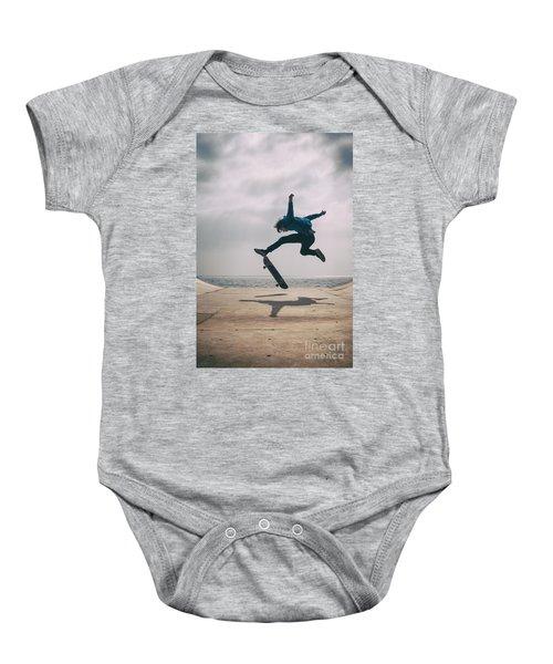 Skater Boy 003 Baby Onesie