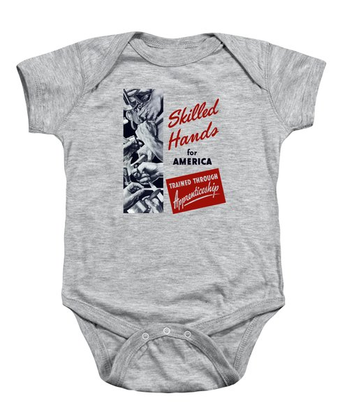 Skilled Hands For America Baby Onesie