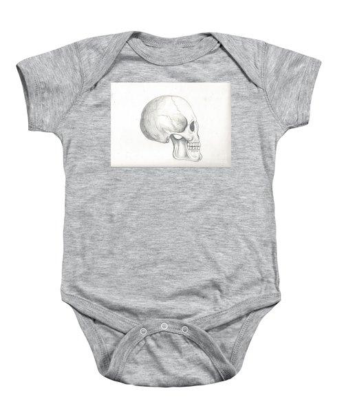 Skull Study Baby Onesie