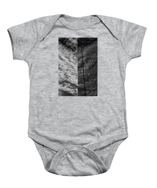 Baby Onesie featuring the photograph Sky Show by Lora Lee Chapman