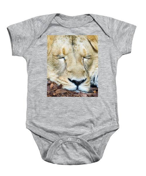 Sleeping Lion Baby Onesie