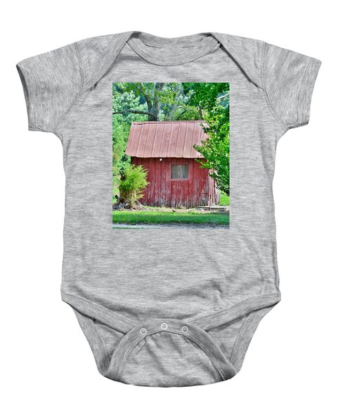 Small Red Barn - Lewes Delaware Baby Onesie