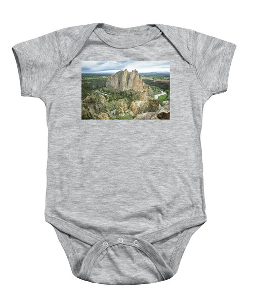 Smith Rock From Misery Ridge Baby Onesie