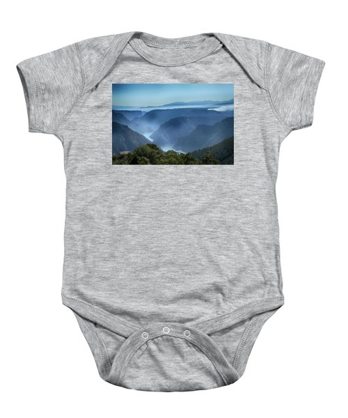 Smoke Over Flaming Gorge Baby Onesie