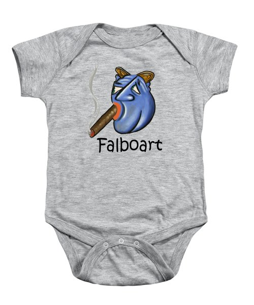 Smoking Blue Man Baby Onesie