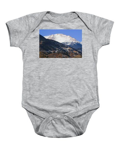 Snow Capped Pikes Peak In Winter Baby Onesie