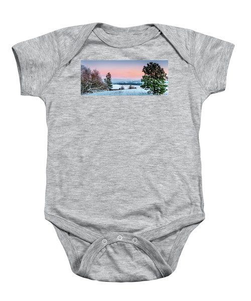 Snow Covered Valley Baby Onesie